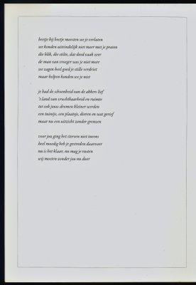 Gedicht rouwkaart Geert